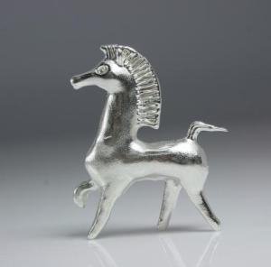 bucephalus horse in silver