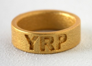 YRP Ring - Matt 24kt Gold-Plated S/Steel
