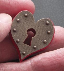 Keyhole Heart Pendant - pic4