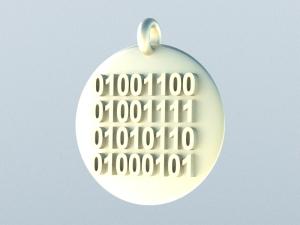 Binary Code LOVE Pendant