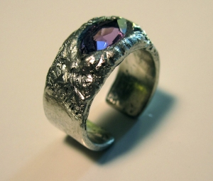Silver and Amethyst Ring 2