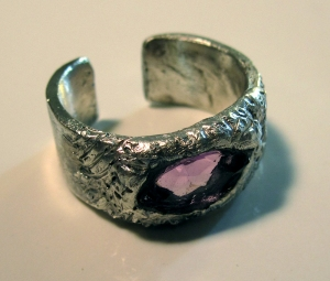 Silver and Amethyst Ring 3