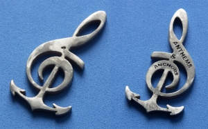 Anchors and Anthems Pendant complete