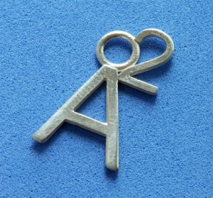 A2 Charm in Sterling Silver