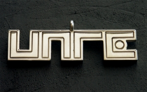 UNRE logo pendant