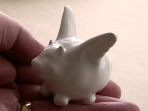 Flying Pig in Ceramic