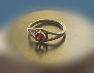 Silver with Fire Citrine - photo