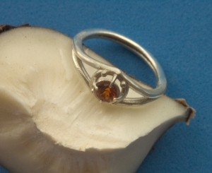 Silver with Fire Citrine - photo 2