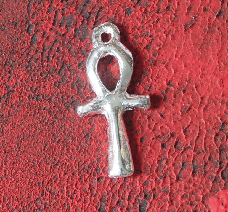 .999 Silver Ankh Pendant