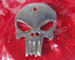 Alien Skull Pendant in Pewter