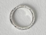 Argentium Silver Hammered Ring – SizeUS9