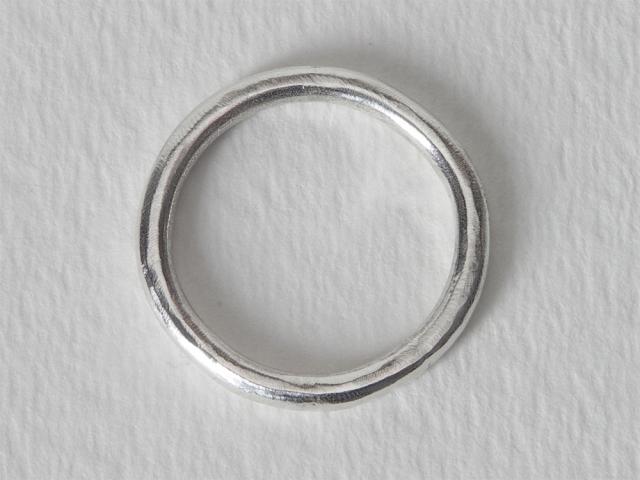 Argentium Silver Band 8.75