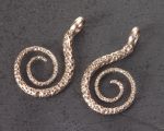 Spiral Earrings in Bronze