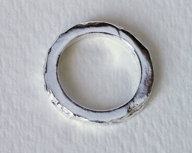 Pure Silver Textured Ring
