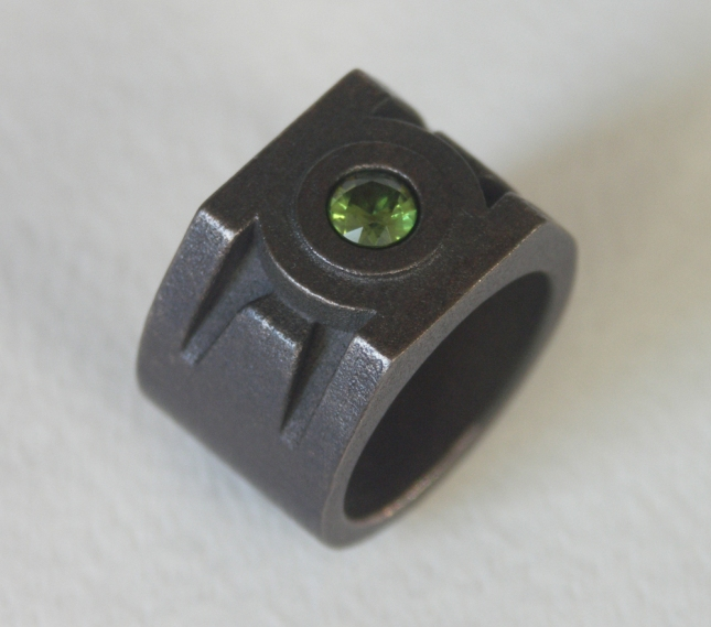 Green Lantern Ring in Black Stainless Steel