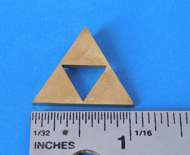 tri-force pendant brass