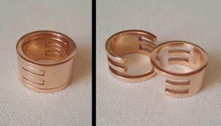 Interlocking Rings in Bronze